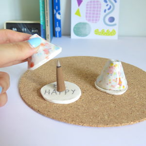 Handcrafted Ceramic Incense Cone Teepee