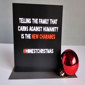 Honest Christmas 'Party Games' Card - cards & wrap