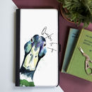 Inky Mallard Flip Phone Case With Optional Message