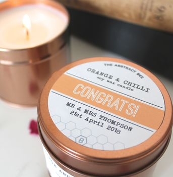 Personalised Congrats Candle