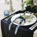 Navy Velvet Table Runner