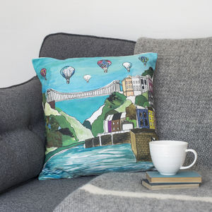 Bristol 'Clifton Balloons' Cushion - patterned cushions