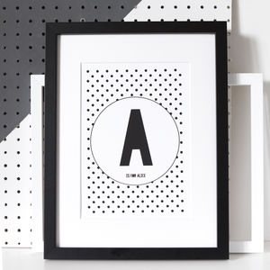 Personalised Polka Dot Letter Or Number Print - summer sale