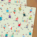 Football Gift Wrap Two Sheets