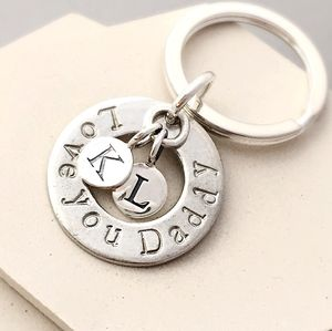 Love You Daddy Keyring - mens