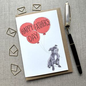 Father's Day Staffy Card
