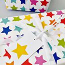 Rainbow Stars Wrapping Paper Set