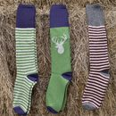 Men's Soft Lambswool Socks : Animal And Stripes