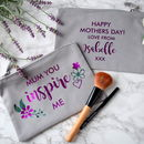 Personalised Mum You Inspire Me Make Up Bag