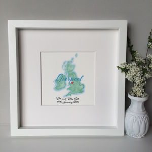 Personalised Map Wedding Gift