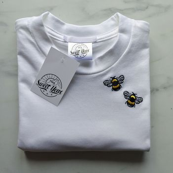 Embroidered Unisex 'Bee' T Shirt