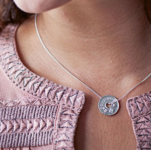 Personalised Collectable Coin Necklace - free delivery gifts to mainland UK