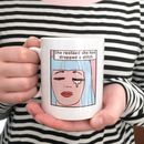 'Dropped Stitch' Knitters Mug