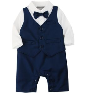 Baby Boy's All In One Outfit With Waistcoat Set - clothing