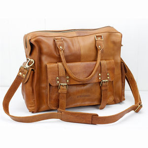 Leather Weekender Bag - gifts for fathers