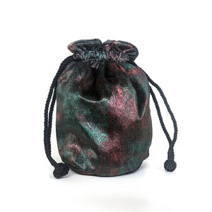 Rust Velvet Bucket Bag