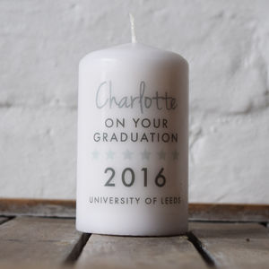 Personalised Graduation Candle Gift