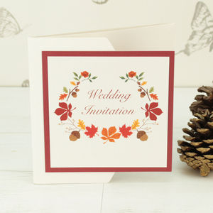 Autumn Pocketfold Wedding Invitation - invitations