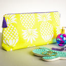 Pineapple Chartreuse Large Wash Bag