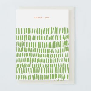 'Thank You' Card Green