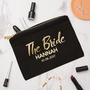 Personalised Bride Make Up Bag
