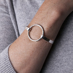 Eternally Yours Silver Circle Pressure Bangle - bracelets & bangles