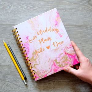 Personalised Our Wedding Plans Planner - stationery sale
