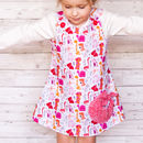 Girls Handmade Pink Dinosaur Dress