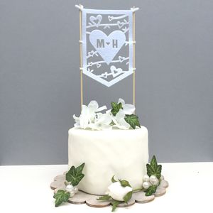 Personalised Banner Wedding Cake Topper - whats new