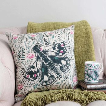 Thistles And Butterfly Cushion