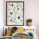 Personalised Bee Positive Art Print