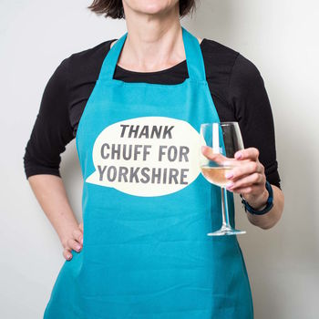 'Thank Chuff For Yorkshire' Apron