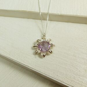 Amethyst Sunflower Necklace
