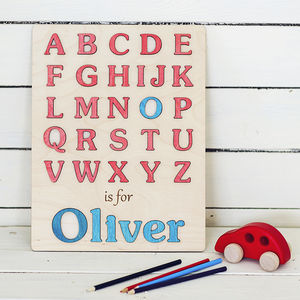 My First Alphabet Boys Personalised Puzzle - christening gifts