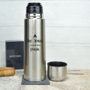 Personalised Stainless Steel Family Activity Flask - picnics & barbecues