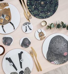 Nocturnal Animal Placemats