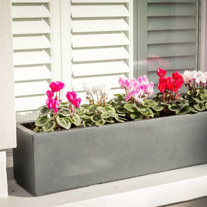 Large Window Box Planter In Hampstead Lead - pots & planters