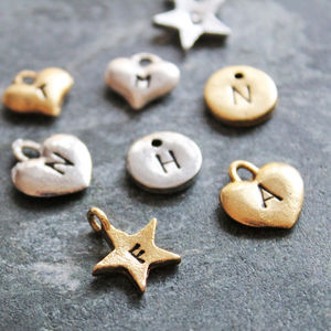 Add A Hand Stamped Charm To Your Order