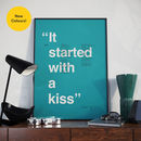 Personalised Favourite Song Lyric Minimalist Print