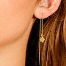 Guiding North Star Turquoise Threader Earrings
