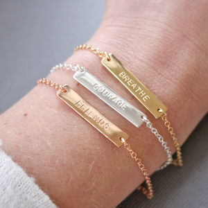 Personalise Your Own Mantra Bracelet - new season