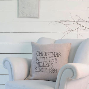 Embroiderie Style Christmas Cushion - personalised cushions