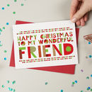 Wonderful Friend Christmas Card