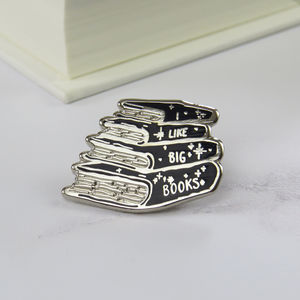'I Like Big Books' Enamel Pin - pins & brooches
