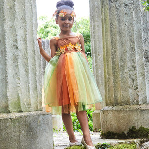 Children's Autumn Fairy Dress Up Costume