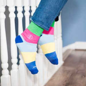 Education Statement Stripe Bamboo Sock - women's fashion