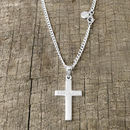 Silver cross for men