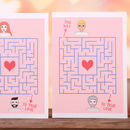 Personalised Love Maze Valentine's Portrait Card