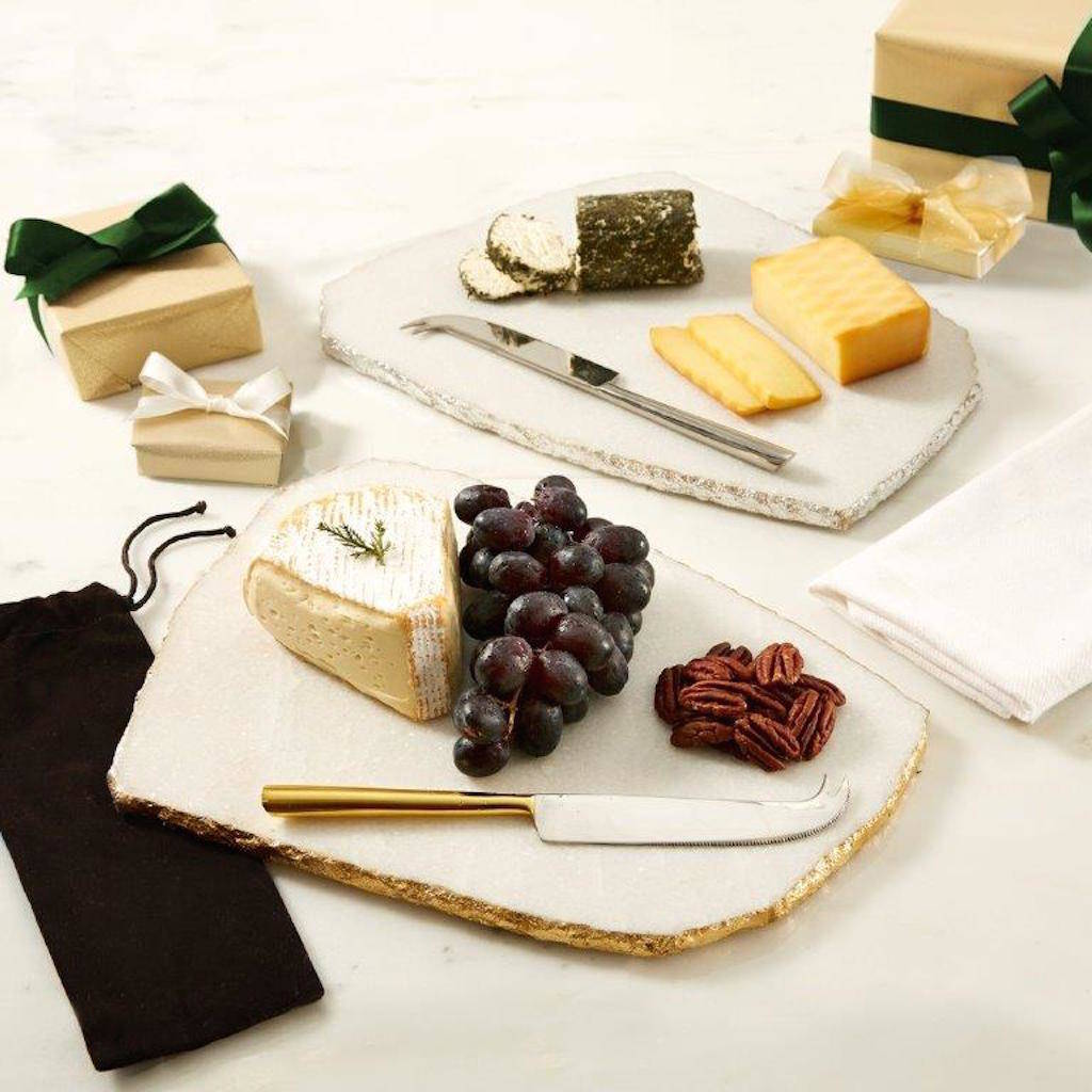 marble cheese board gold or silver edged marble cheese board and knife by the 30325
