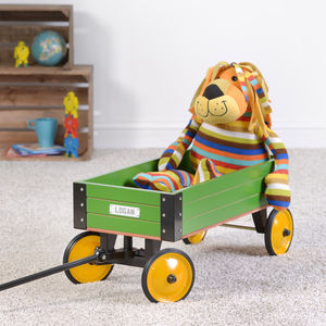 Personalised Kids Pull Along Kart - whatsnew